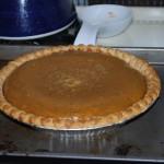 Pumpkin pie is done!